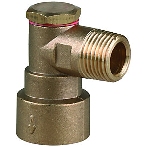 Wickes Brass Gas Socket for Bayonet Hose - 12mm