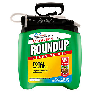Fast Action Pump n Go Roundup Weedkiller - 5L
