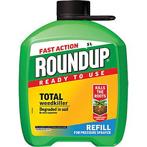 Fast Action Pump n Go Roundup Weedkiller Refill - 5L