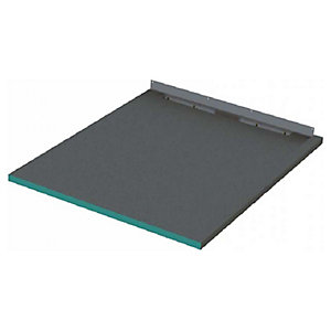 Wickes 30mm Infinity Left Hand Single Fall Rectangular Shower Tray - 1200 X 1250mm