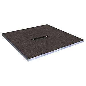 Wickes Linear 30mm Wetroom Shower Tray With Centre Drain Level Access  - 1000 X 1000mm