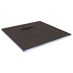 Wickes Linear 30mm Wetroom Shower Tray With End Drain Level Access  - 1200 X 1200mm