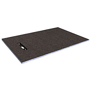 Wickes Linear 30mm Wetroom Shower Tray With End Drain Level Access  - 1400 X 900mm