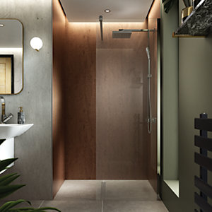 Wickes Aluminium & Glass Wet Room Panel - 700mm