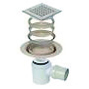 Wickes Wet Room Two Part Waste with Square Tile Grate