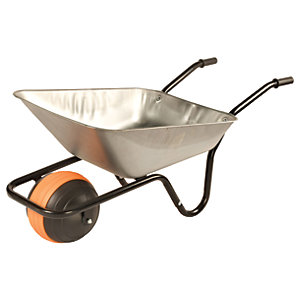 Walsall Barrow in a Box Galvanised Duraball Wheelbarrow with Puncture Proof Ball Wheel 85L