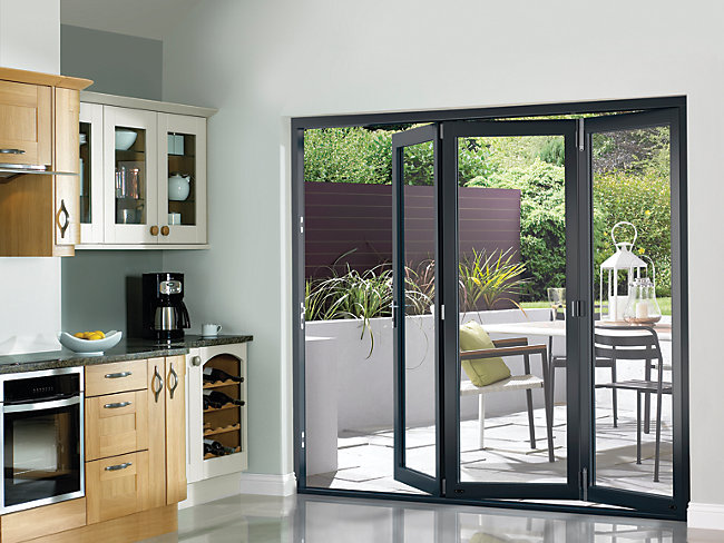 Wooden BiFold Patio Doors