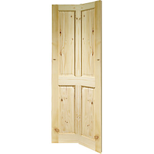 Wickes Chester Knotty Pine 4 Panel Internal Bi Fold Door