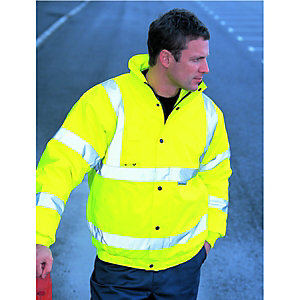 Wickes Class 3 High Visibility Bomber Jacket Yellow