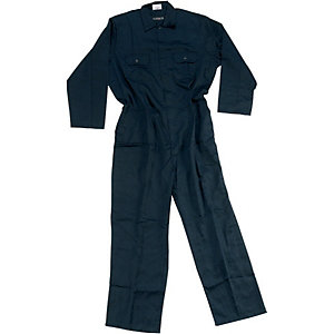 Wickes Heavy Duty Polycotton Boiler Suit Navy Blue