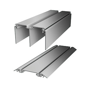 Wickes Minimalist Sliding Door Trackset - Silver