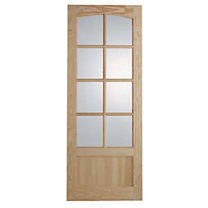 Wickes Newland Glazed Clear Pine 9 Panel Internal Door