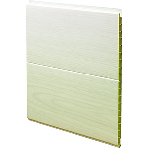 Wickes PVCu White Ash Effect Interior Cladding 250 x 2500mm