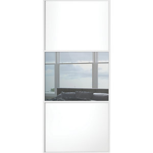 Wickes Sliding Wardrobe Door Wideline White Panel & Mirror