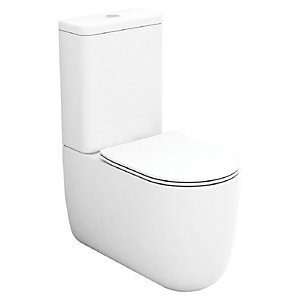 Wickes Teramo Easy Clean Close Coupled Toilet Pan & Soft Close Seat