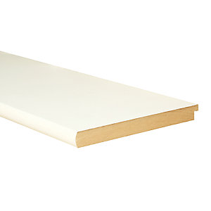 Wickes Bullnose Primed MDF Window Board - 22mm x 219mm x 1.5m