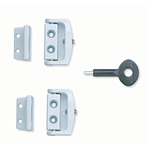 Yale P-2P113-WE-2 Window Toggle Lock - White Pack of 2