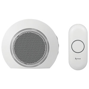 Byron DBY-23521 200M Wireless Doorbell with Portable Chime