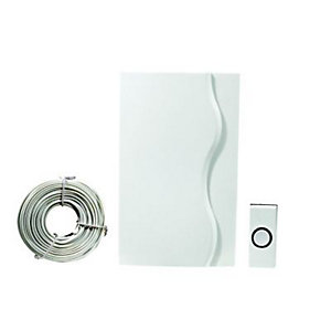 Wickes Wired Door Chime Kit - White