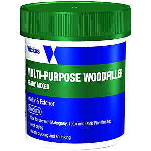 Wickes Multi-Purpose Wood Filler Tub - Medium 250g