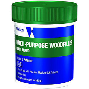 Wickes Ready Mixed Wood Filler - Light 250g
