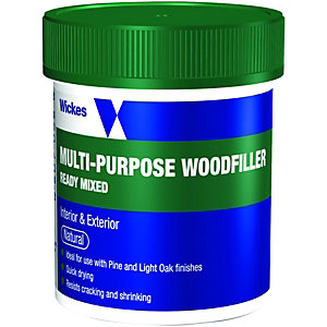 Wickes Ready Mixed Wood Filler - Natural 250g