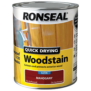 Ronseal Quick Drying Woodstain - Satin Mahogany 750ml