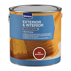 Wickes Quick Drying Woodstain - Red Mahogany 750ml