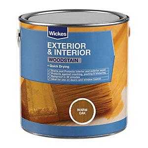 Wickes Quick Drying Woodstain - Warm Oak 2.5L