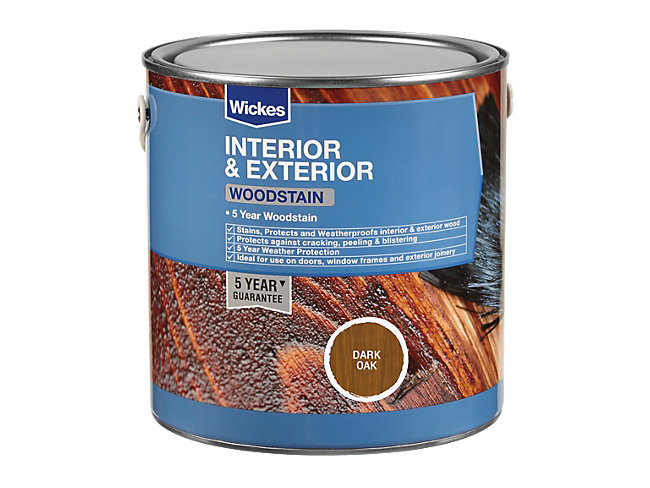 Wickes Woodstain - Dark Oak 2.5L