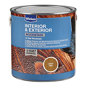 Wickes Woodstain - Light Oak 2.5L