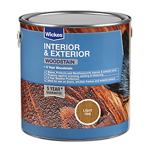 Wickes Woodstain - Light Oak 750ml