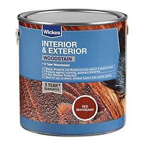 Wickes Woodstain - Red Mahogany 750ml