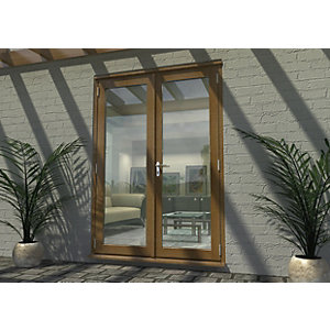 Rohden Pattern 10 Fully Finished Oak French Doors - 5ft