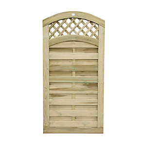 Forest Garden Bristol Lattice Top Timber Gate - 900 x 1800 mm