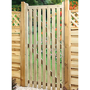 Wickes Framed Ledged & Braced Flat Top Timber Gate - 915 x 1795 mm