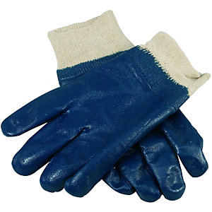 Wickes Blue Nitrile/Chemical Gloves - L