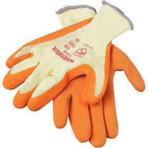 Wickes Builders Orange Grippa Gloves - L