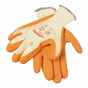 Wickes Builders Orange Grippa Gloves - Pack of 5