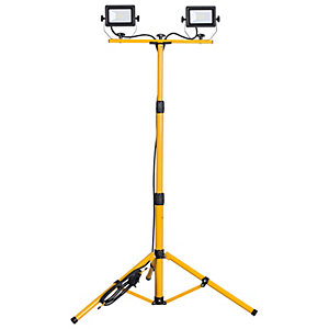Portable LED Worklight with Tripod - 2 x 20W
