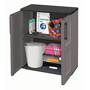 Exterior Mid Storage Cabinet with Shelves - 370 x 680 x 840mm