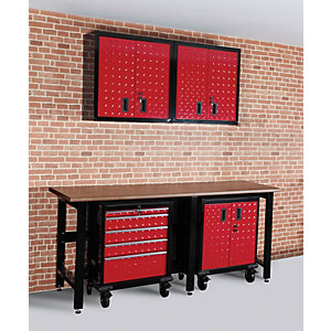 Hilka Garage Red & Black Storage Solution