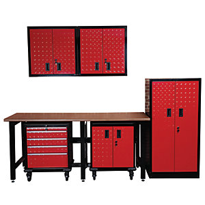 Hilka Garage Red & Black Total Solution