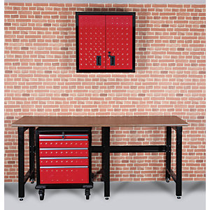 Hilka Garage Starter Storage Solution Kit - Red & Black
