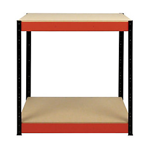 Rb Boss 2 Tier Wood Shelves Workbench - 900 x 900 x 400mm 300kg Udl