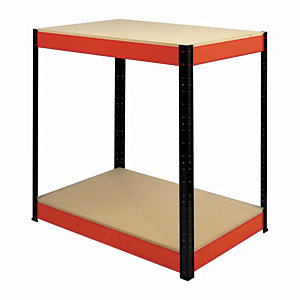 Rb Boss Workbench 2 Wood Shelves - 900 x 900 x 300mm 600kg Udl
