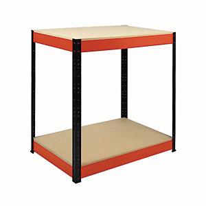 Rb Boss Workbench 2 Wood Shelves - 900 x 900 x 300mm 800kg Udl