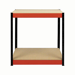 Rb Boss Workbench 2 Wood Shelves - 900 x 900 x 400mm 300kg Udl