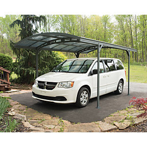 Palram Atlas 5000 Grey Bronze Metal Freestanding Carport - 8 x 16 ft
