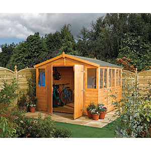 Rowlinson 9 x 18 ft Shiplap Honey Brown Workshop